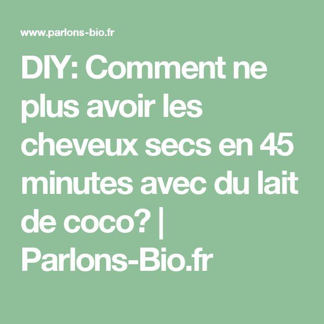 DIY: Comment ne plus avoir les cheveux secs en 45 minutes avec du lait de coco?   Parlons-Bio.fr