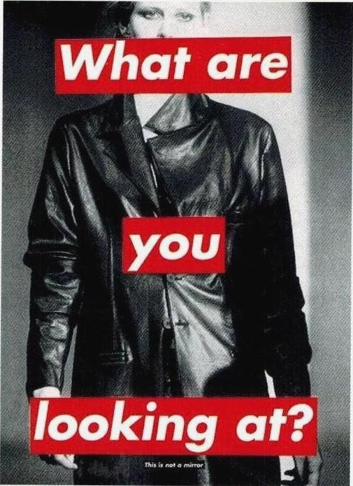 Barbara Kruger, Harper's Bazaar, 1994 - personality disorder/eating disorder/peoples judgements on other people= disorder within society.