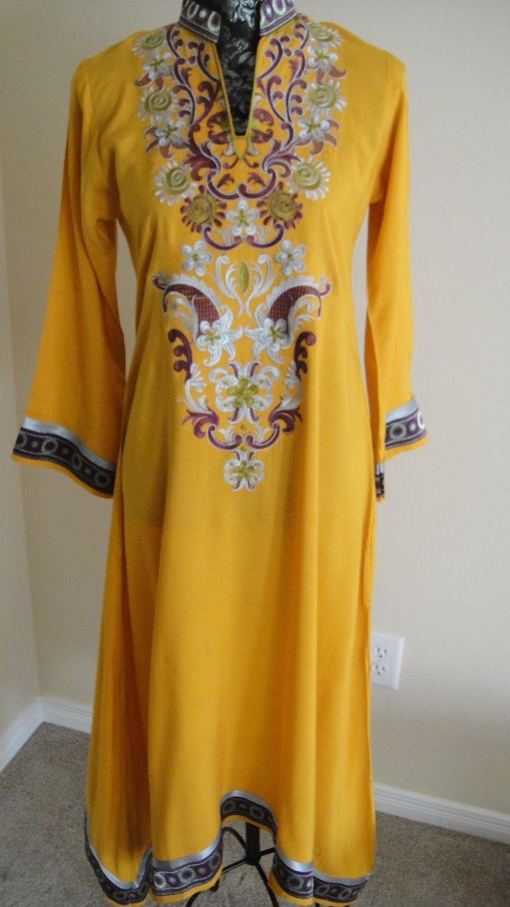 Long embroidered pak designer kurtii
