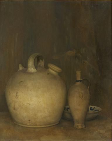 Jan Mankes (Dutch, 1889-1920) Still life