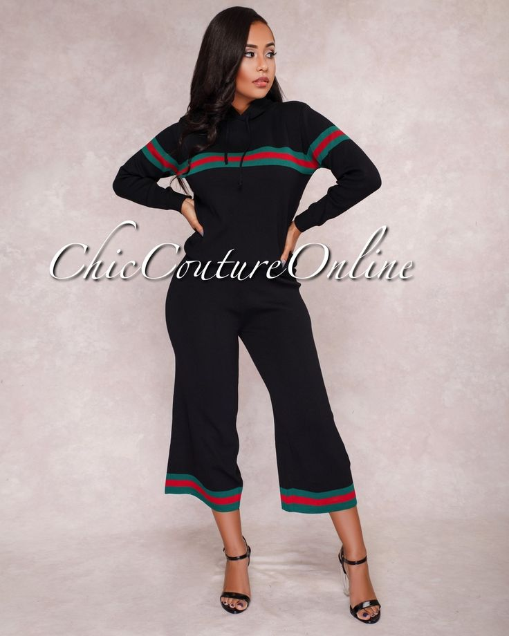 Chic Couture Online - Vanessa Black Red Stripes Two Piece Set,  (http://www.chiccoutureonline.com/vanessa-black-red-stripes-two-piece-set/)