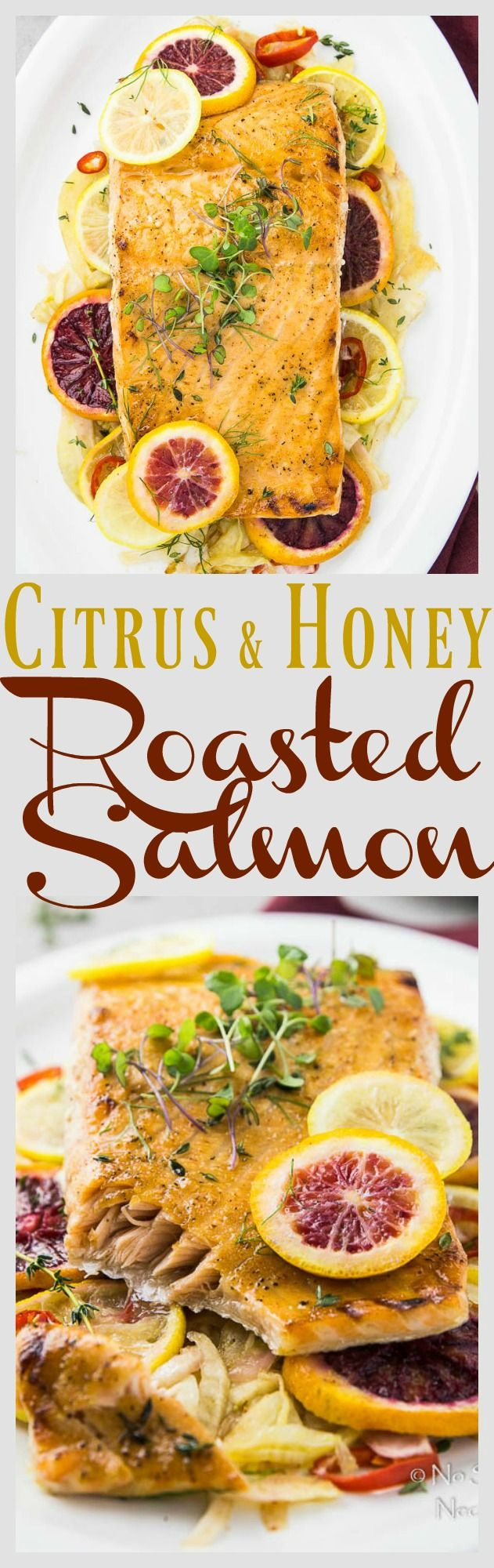 Easy Citrus & Honey Roasted Salmon with Fennel & Blood Orange Salad