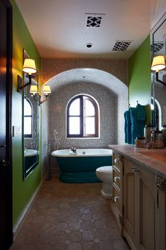 Transitional Home - mediterranean - bathroom - phoenix - Wendy Black Rodgers Interiors