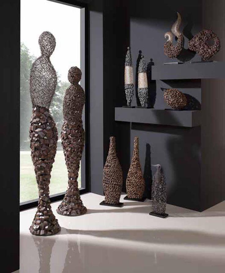 84 best jarrones y figuras decorativas complementos para la decoracion del hogar images on - Figuras decorativas modernas ...