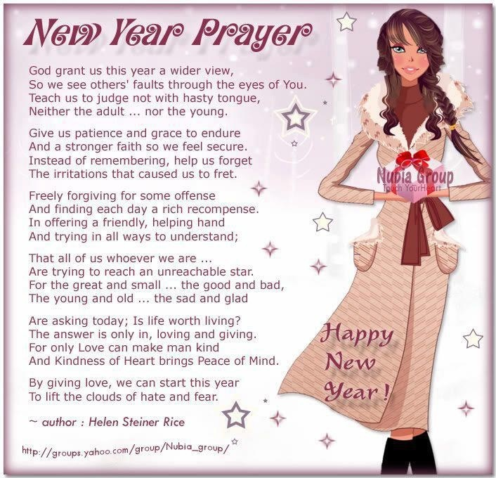 ~ New Year Prayer ~ Helen Steiner Rice ~ @ you and me, mads!