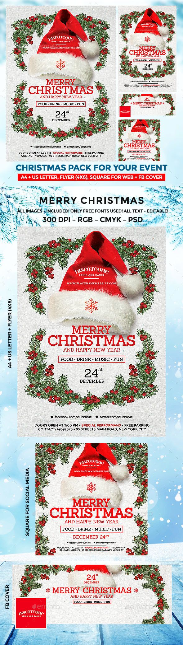 Christmas Flyer christmas christmasbackground christmasbash christmascard ChristmasCelebration christmasevent christmasflyer christmasgift christmasinvitation christmasparty christmastemplate giftcard invitation invitationcard newyearinvitation newyearparty vintagechristmas