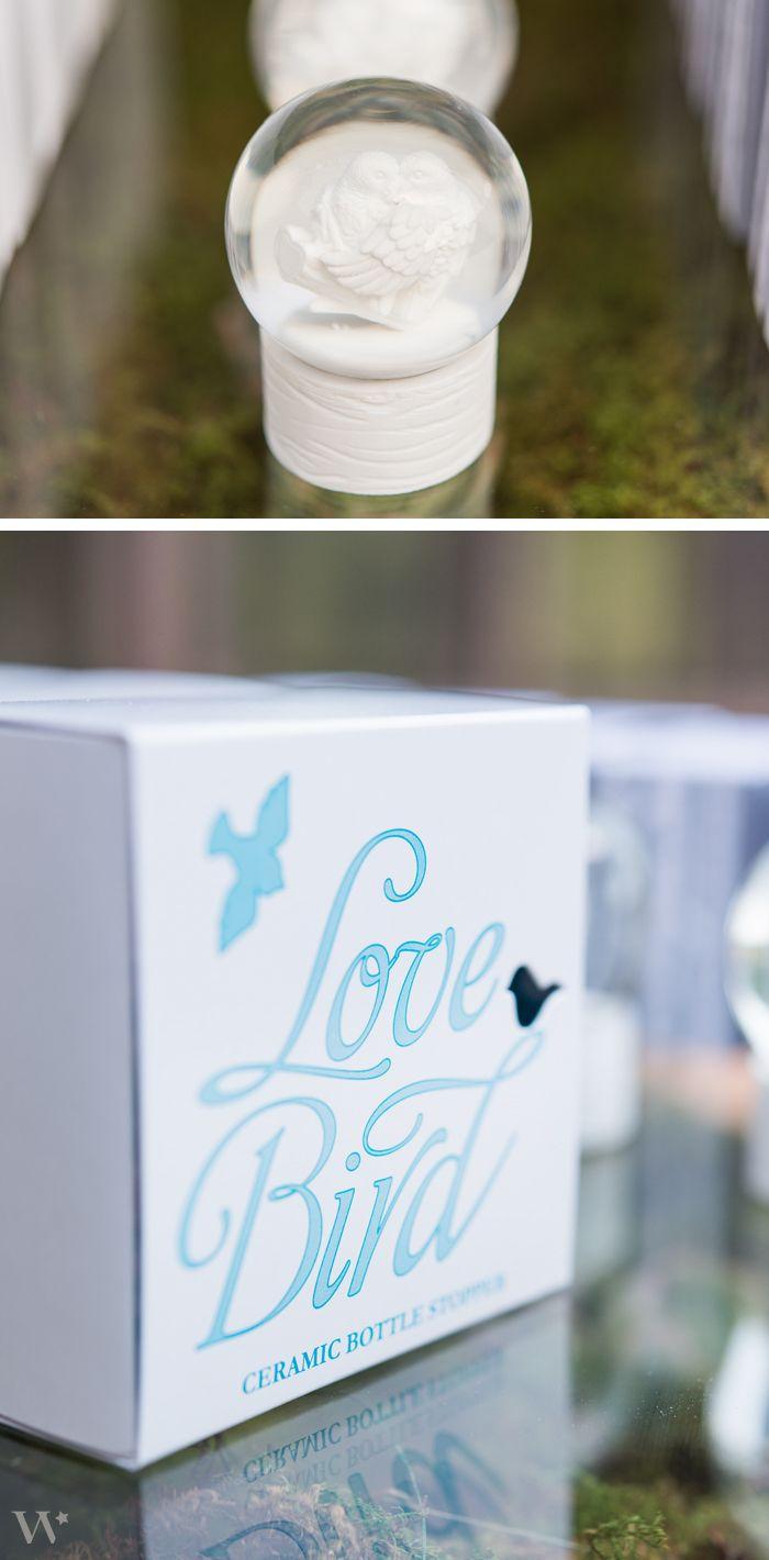 Mini Lovebird Snowglobes make a great favor guests will love! http://www.weddingstar.com/product/miniature-love-bird-snowglobes