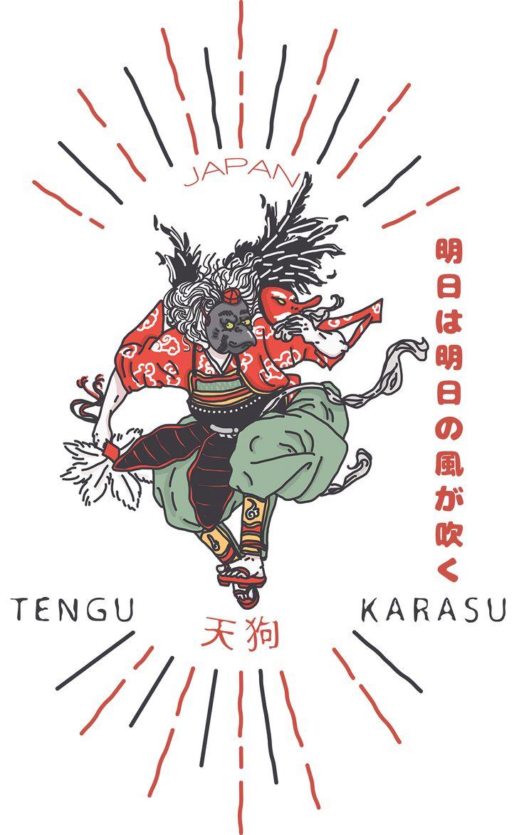 TENGU TEES DESIGN 2015 - JAPAN KARASU 天狗 on Behance