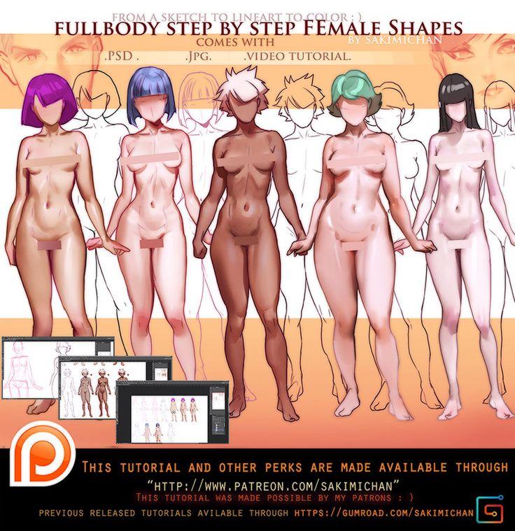 fullbody Female Variation video tutorial .promo. by sakimichan on DeviantArt