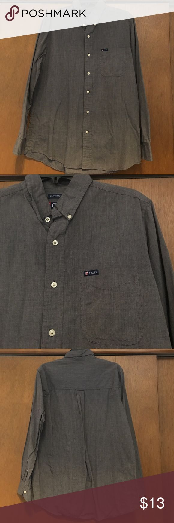 Grey Chaps button up Grey Chaps button up. Excellent condition!!! Size M Chaps Shirts Casual Button Down Shirts
