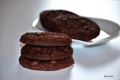 Cookies al doppio cioccolato di Laura Ravaioli.