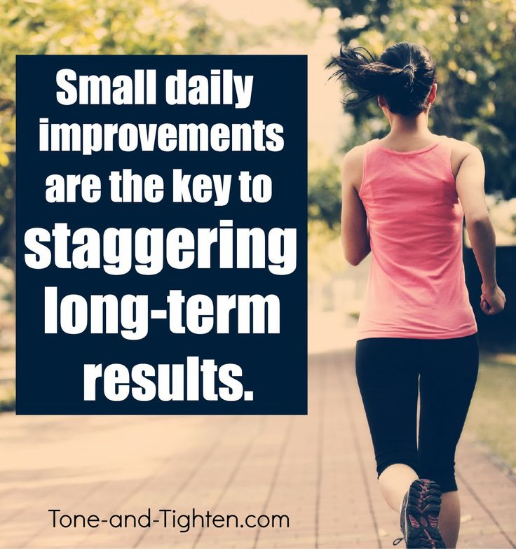 Consistency brings improvement which ultimately yields results. Get inspired at Tone-and-Tighten.com #fitness #motivation #inspiration