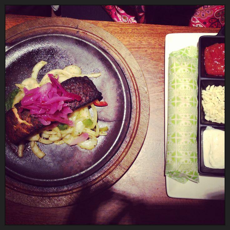 Colourful Salmon Dish