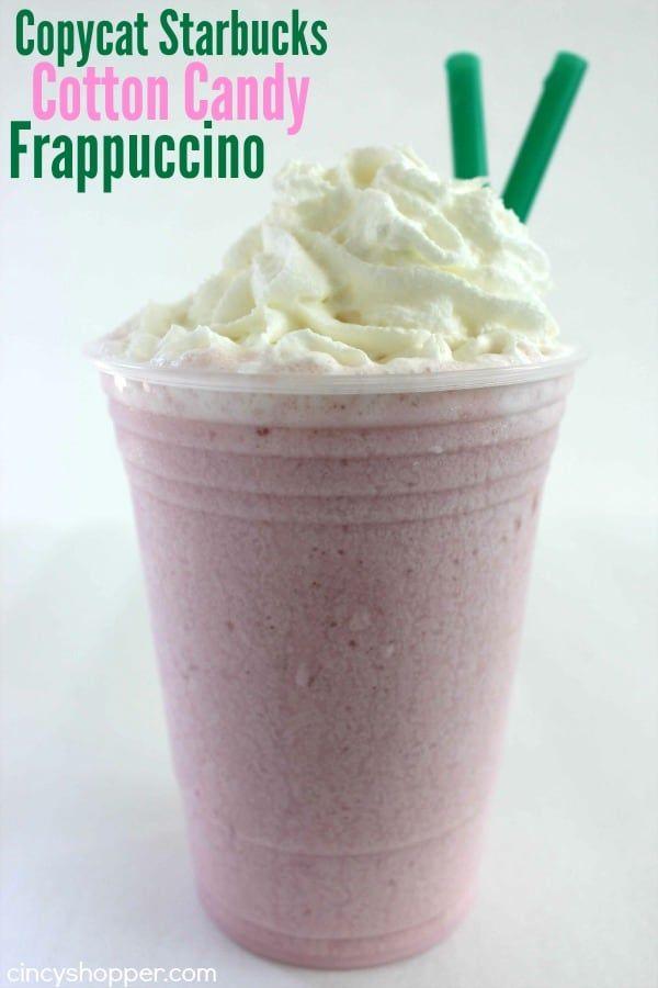 Copycat Starbucks Cotton Candy Frappuccino Recipe Frappuccino Recipe Frappuccino Cotton Candy Frappuccino