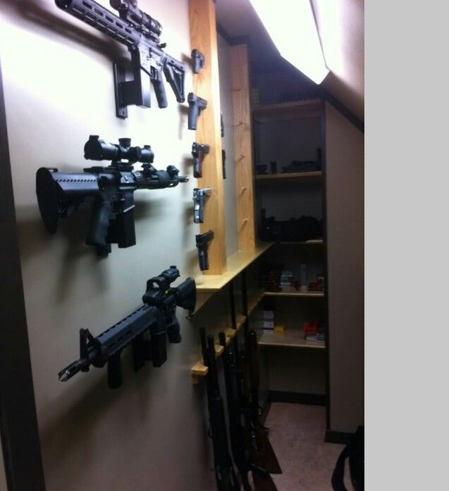 Diy gun room 5 gun safes cases storage pinterest for Gun safe room ideas