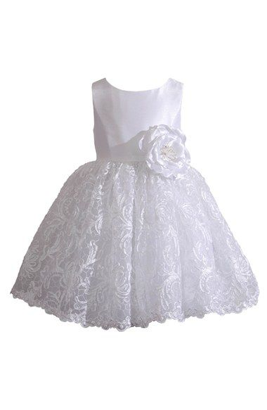 Kleinfeld Pink 'Tara' Sleeveless Lace Dress (Baby Girls) available at #Nordstrom