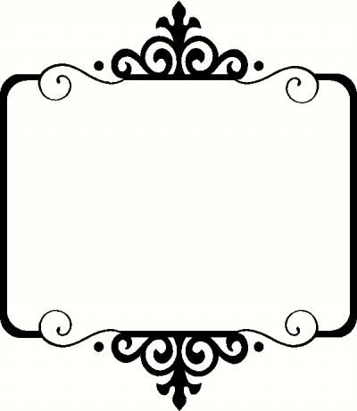 Frame I Vinyl Decal | Borders & Frames Vinyl Decals