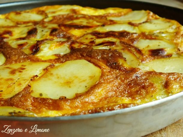 frittata con le patate- dettaglio
