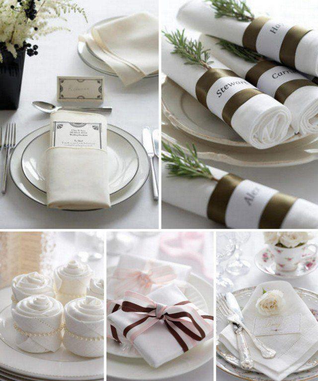 pliage de serviettes chic et facile: cadeau, rouleau ou pochette