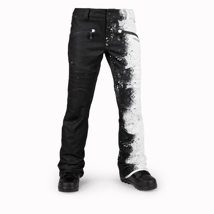 VOLCOM Women's Hexie Pant (Black/white) Womens Snowboard Pants at Satellite Boardshop