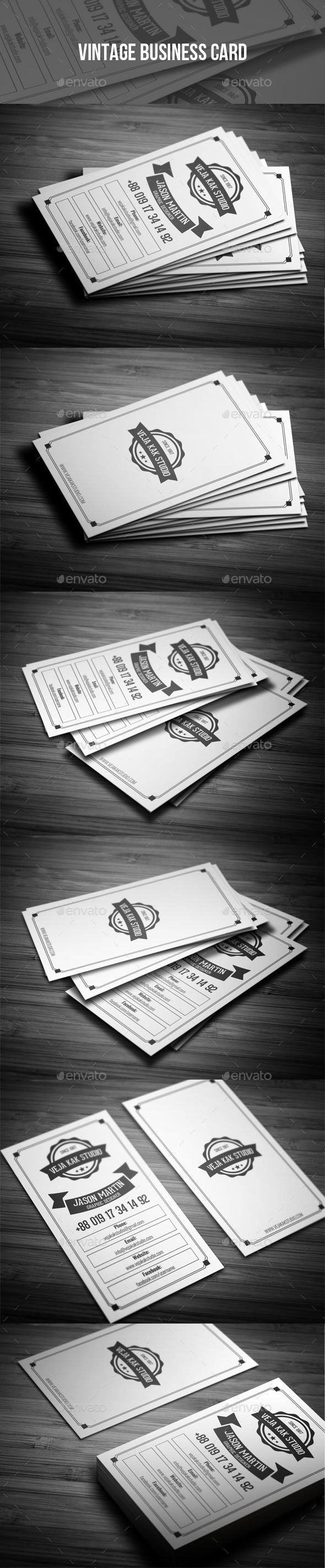 Vintage Business Card - Retro/Vintage Business Cards Download here : https://graphicriver.net/item/vintage-business-card/19398183?s_rank=102&ref=Al-fatih
