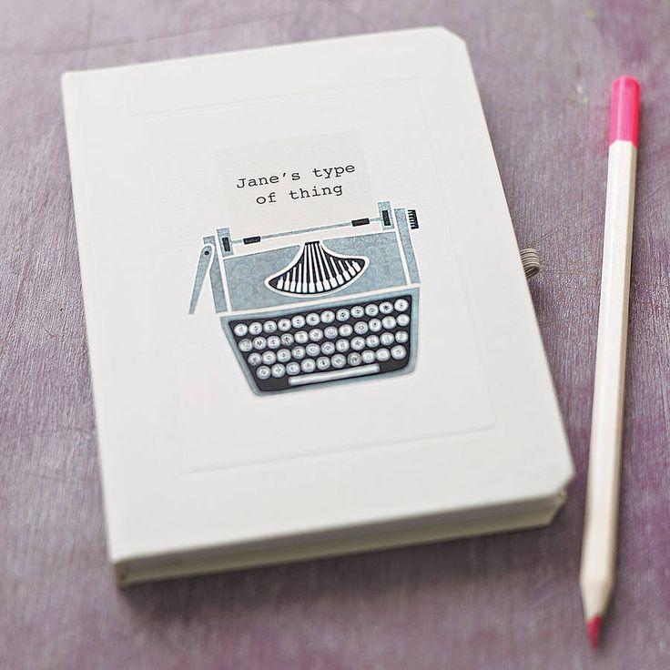 personalised typewriter notebook by made by ellis | notonthehighstreet.com