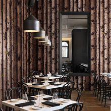 Bark behang Reliëf Behang Dine Kamer Hal, Bad Kamer Mural Art Deco Wandbekleding Zwart Wit Roll 10 M(China (Mainland))