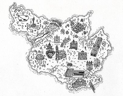 """Check out new work on my @Behance portfolio: """"Portinho - Map"""" http://on.be.net/1INZ7h9"""