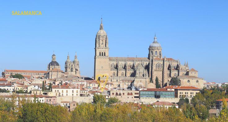 Vista parcial de la ciudad de #Salamamca , Catedrales, Clerecía... http://arteviajero.com/