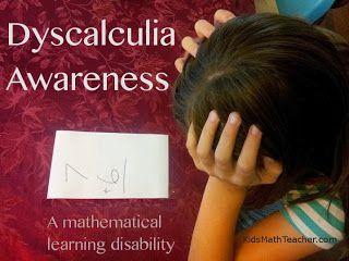 Kids Math Teacher: Guest post interview-- Dyscalculia awareness: A mathematical learning disability