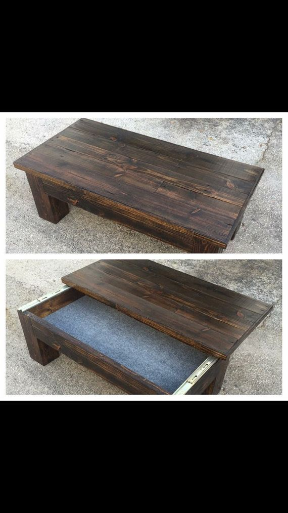 Coffee Table Concealement Table Rustic Table Reclaimed Table