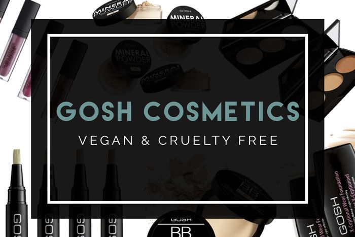 GOSH Cosmetics is certified cruelty-free and although their line of cosmetics is not 100% vegan, they still do offer a wide selection of vegan-friendly products, here's a complete a list.