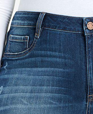 William Rast Trendy Plus Size High-Rise Jeans - Blue 18W