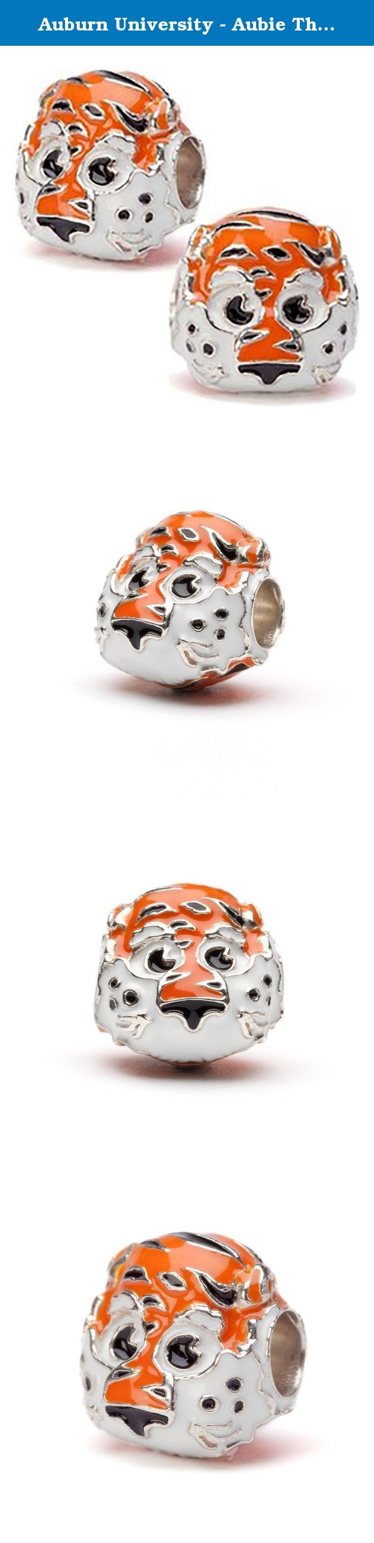 Auburn University - Aubie The Tiger 3-D Bead Charms - Set of 2 - Fits Pandora & Others. Set of TWO Auburn Aubie bead charms that will fit Pandora, Brighton, Troll, Biagi, Chamilia and Stone Armory charm bracelets. These unique charms are ready for any Auburn University Tiger event.