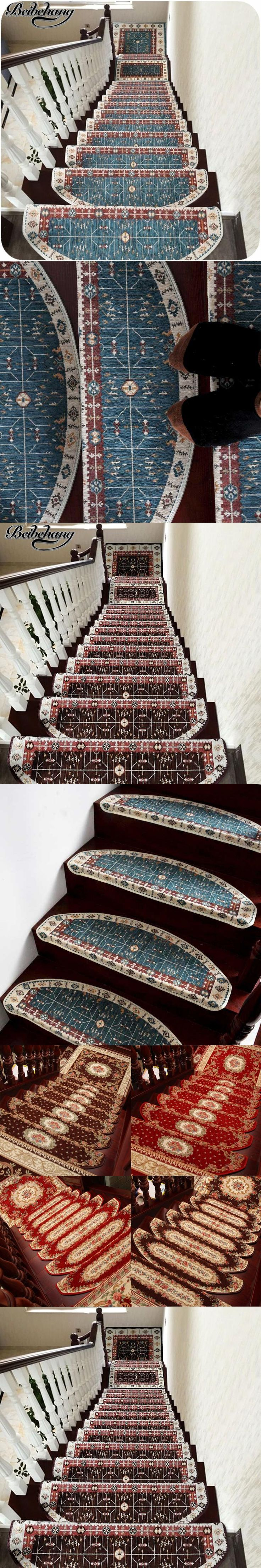 beibehang High - end home full floor mats European - style plastic - free anti - skid floor stairs mats simple floor stepping