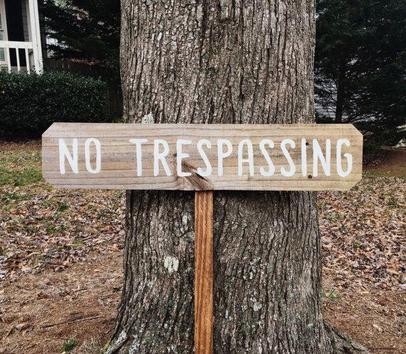 No Trespassing Sign, No Trespassing Order, No Trespassing Notice, Warning No Trespassing, Private Property Sign, Lawn Signs, Yard Signs Wood