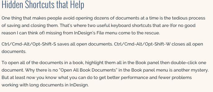 Closing Open Doc -IDD Secrets