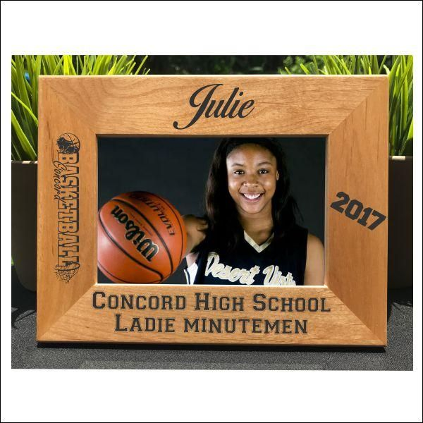 Girl's Basketball // Personalized Engraved Photo Frame // Gift