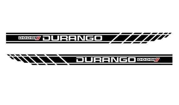 Dodge Durango 2x Racing Stripes Graphics Vinyl Body Decals Sticker Logo 2 Colors In 2021 Dodge Durango Racing Stripes Dodge