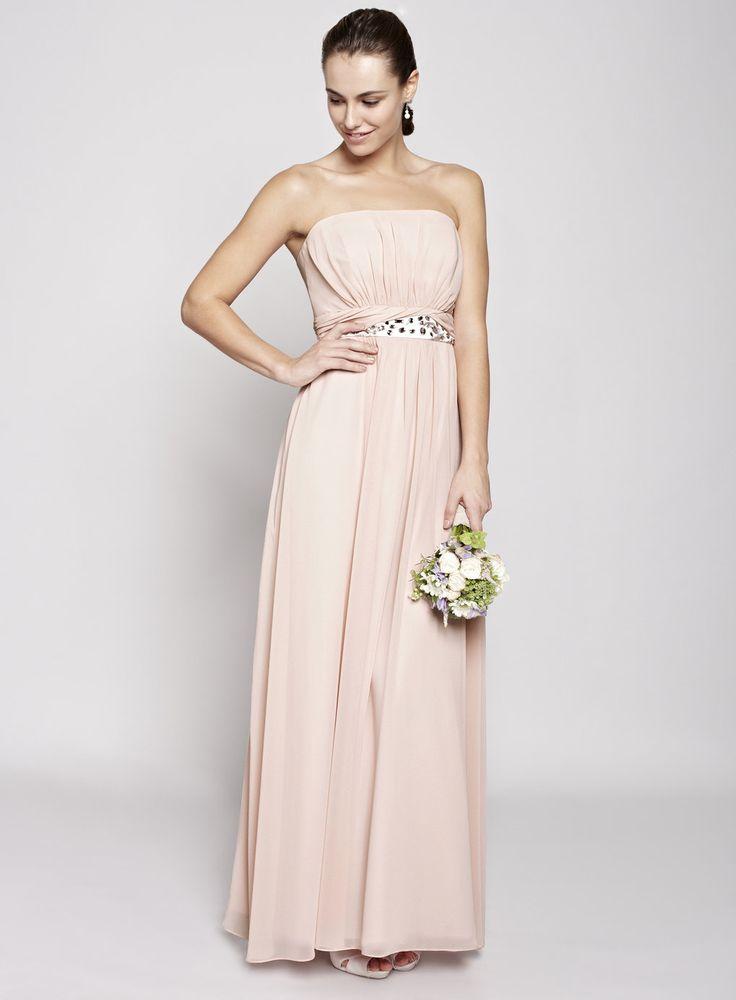 Blush Daisy Long Bridesmaid Dresses