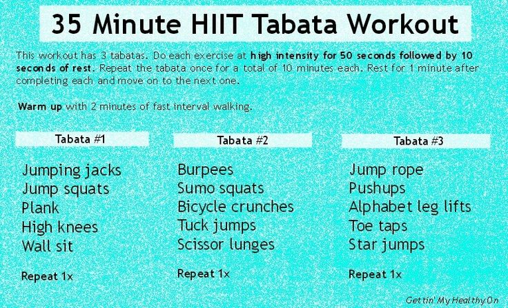 35 Minute HIIT Tabata Workout