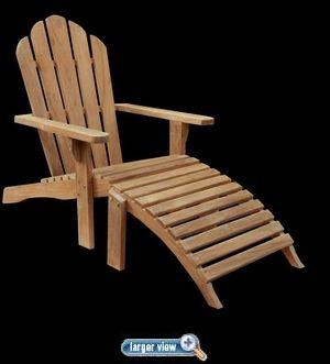 Teak Adirondack Chair made by Chic Teak - click to enlarge