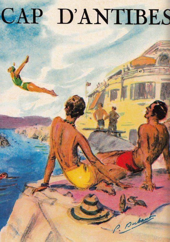 Cap D'Antibes vintage travel poster