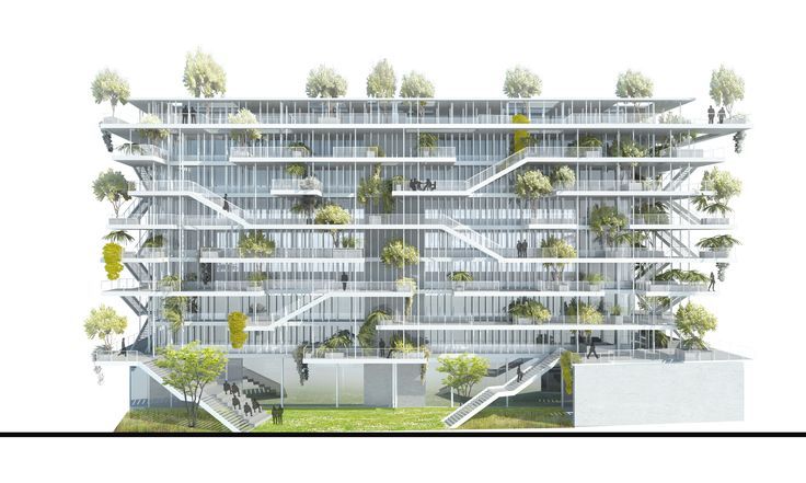 Gallery of NL*A Reveals Plans for Open-Concept Green Office Building in France - 5