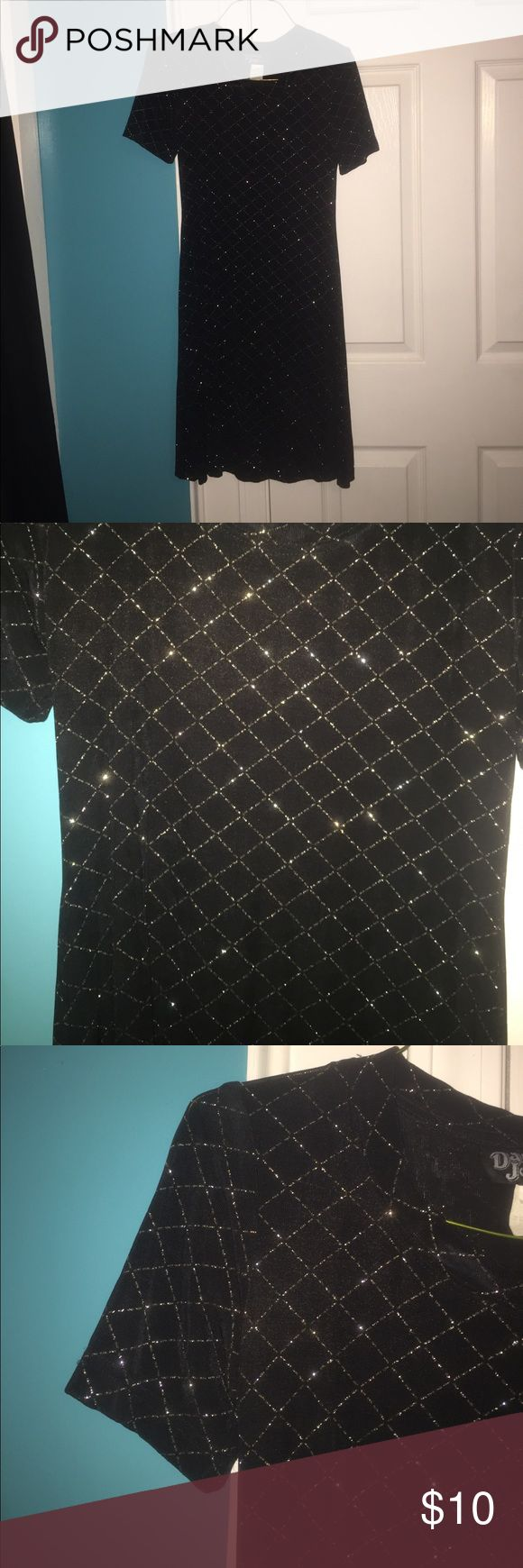 Black dress Sparkly pattern. Padded shoulders. Soft. dawn joy fashions Dresses Formal