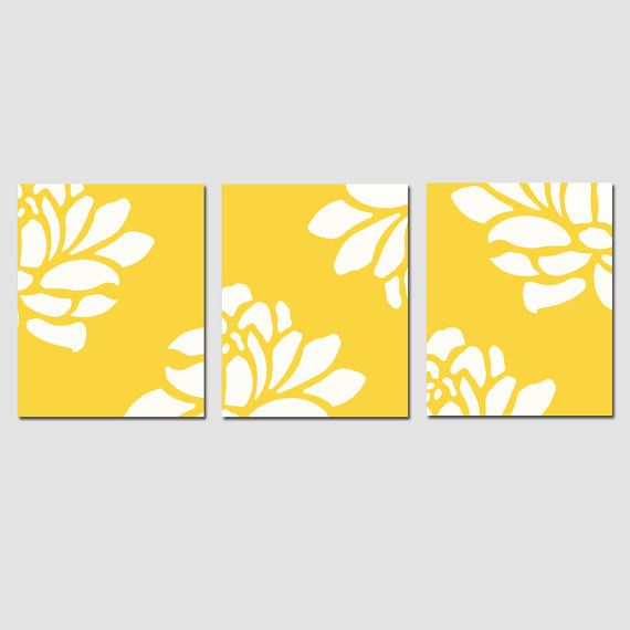 Modern Floral Trio  Set of Three 8x10 Prints  Choose by Tessyla