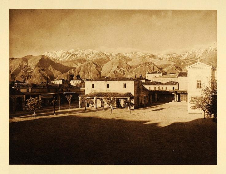 1926 Sparta Greece Eurotas Taygetus Mountains Taygete - ORIGINAL PHOTOGRAVURE (On Ebay)