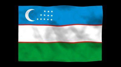 National Flag. UZB Uzbekistan. - HD stock video clip - http://loliace.com/national-flag-uzb-uzbekistan-hd-stock-video-clip/
