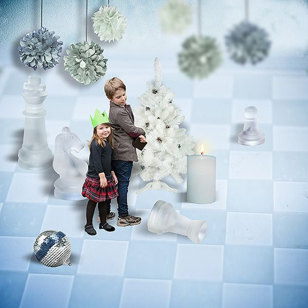 Doctor Who Christmas Special Chess Part digiscrapbook layout created with the kit Thin Feel Of Cold @pickleberrypop
