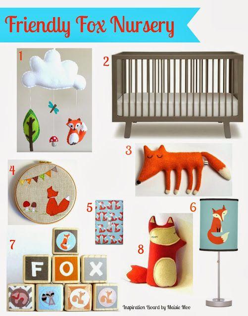 Maisie-Moo Handmade Felt Creations: Friendly Fox Nursery - Inspiration Board